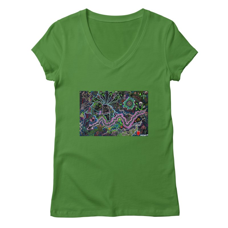 Shamanic Dream Women's Regular V-Neck by Baston's T-Shirt Emporium!