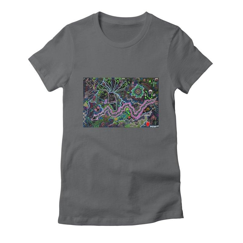 Shamanic Dream Women's Fitted T-Shirt by Baston's T-Shirt Emporium!