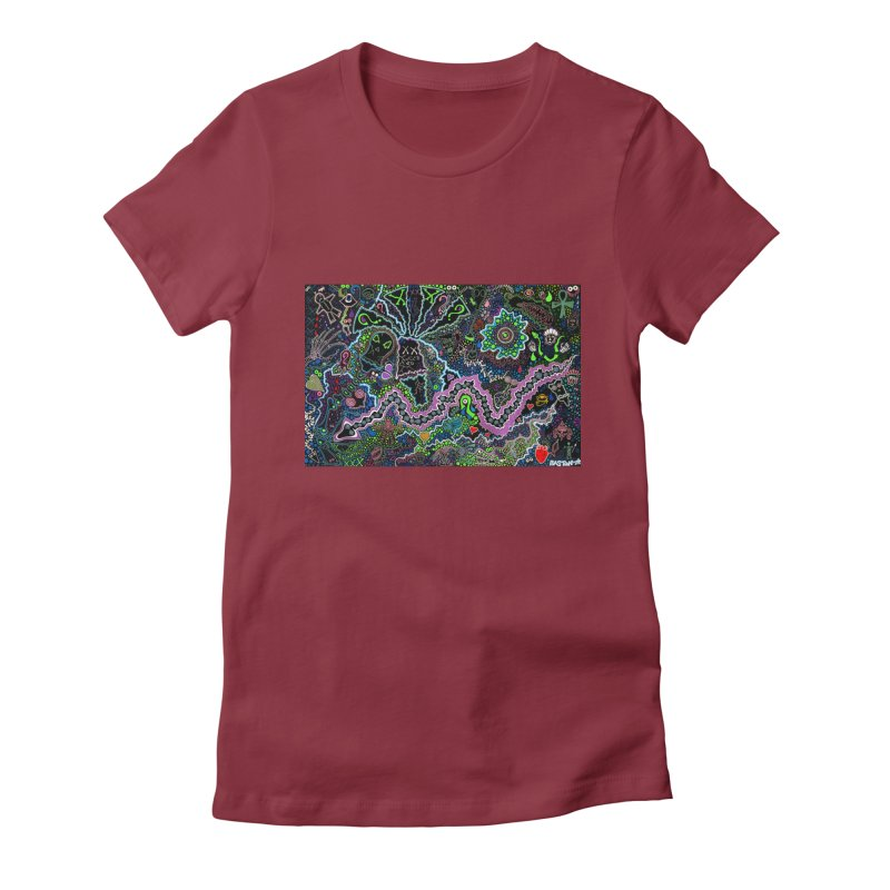 Shamanic Dream Women's Fitted T-Shirt by Baston's T-Shirt Emporium!