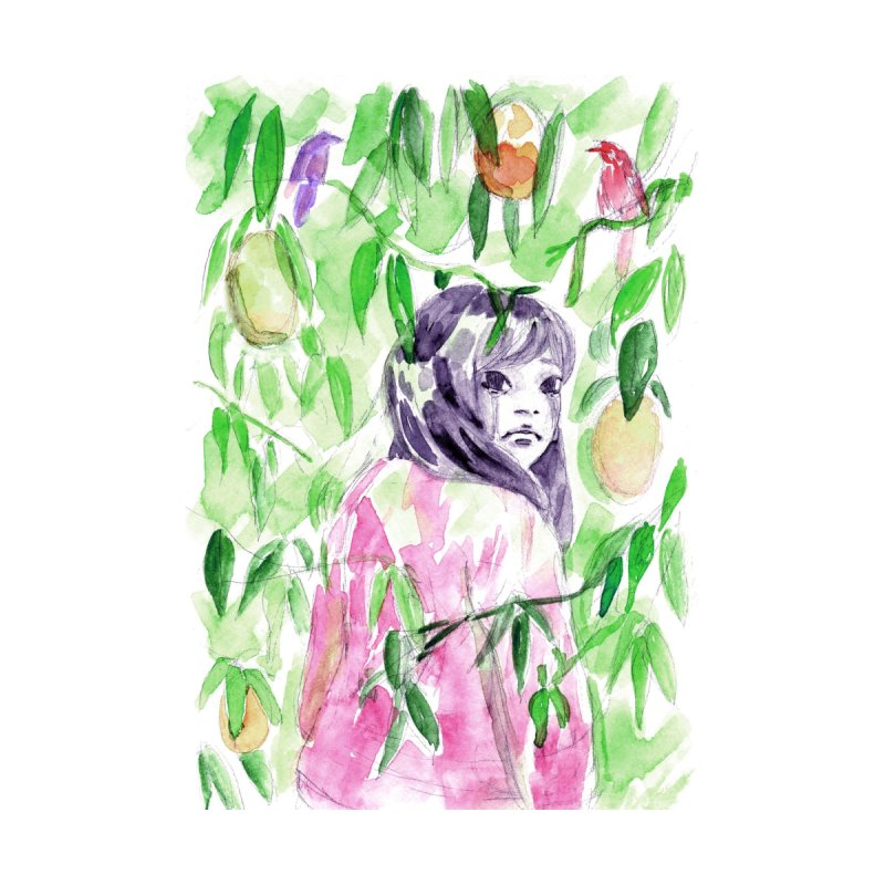 a sad robot walks into the jungle by Priya's Artist Shop