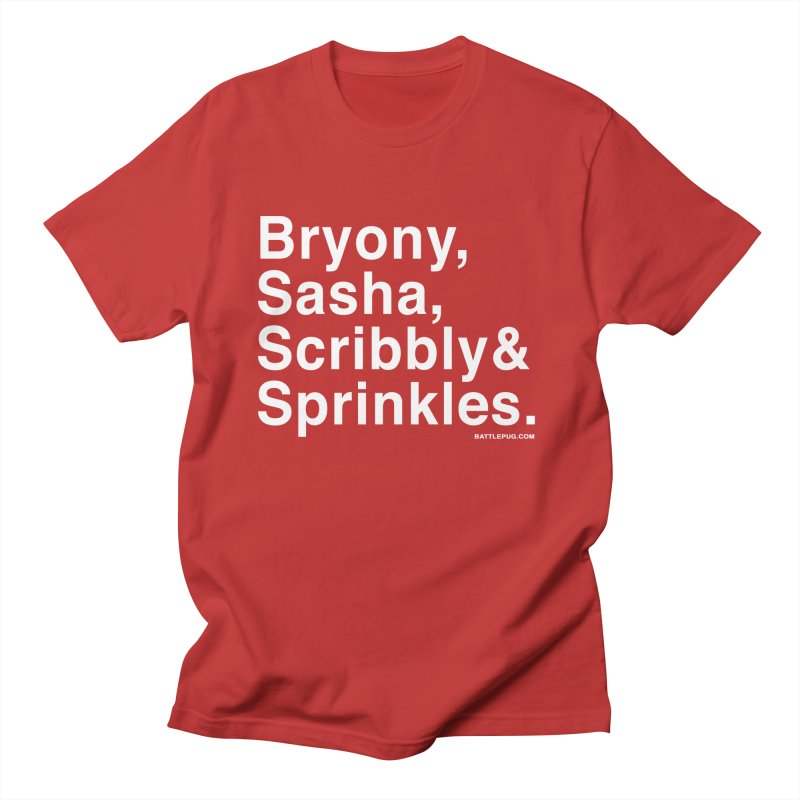 Battlepug Names Women's Regular Unisex T-Shirt by THE BATTLEPUG STORE!