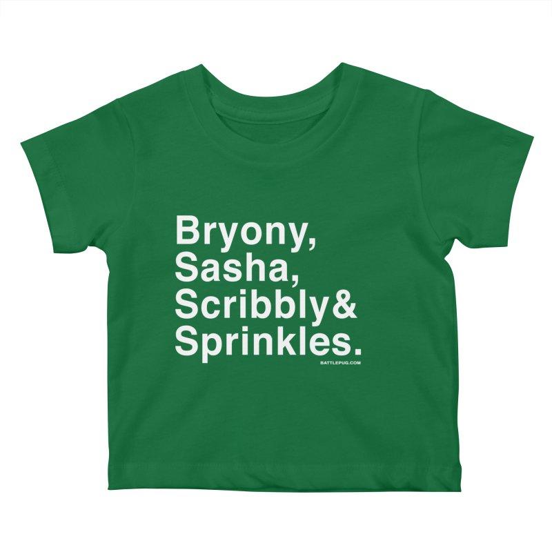 Battlepug Names Kids Baby T-Shirt by THE BATTLEPUG STORE!