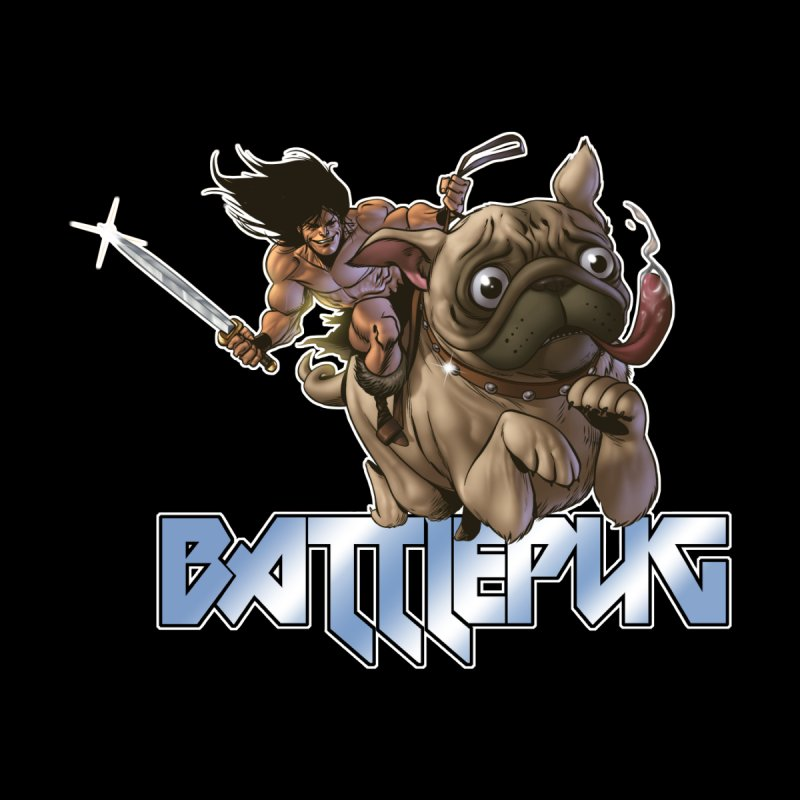 Battlepug Charge! Men's T-Shirt by THE BATTLEPUG STORE!