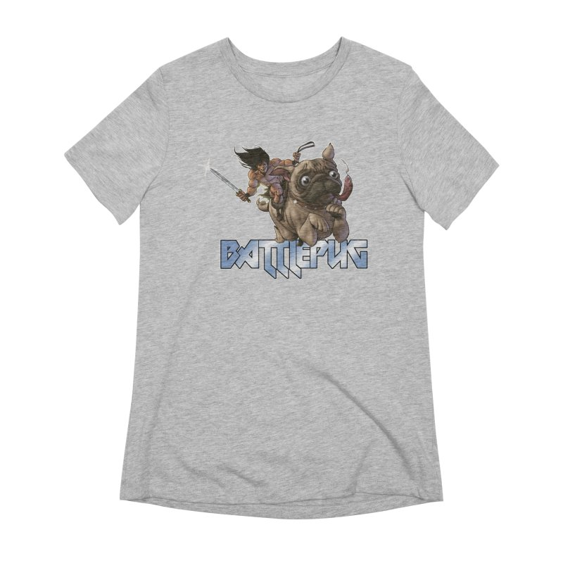 Battlepug Charge! Women's Extra Soft T-Shirt by THE BATTLEPUG STORE!