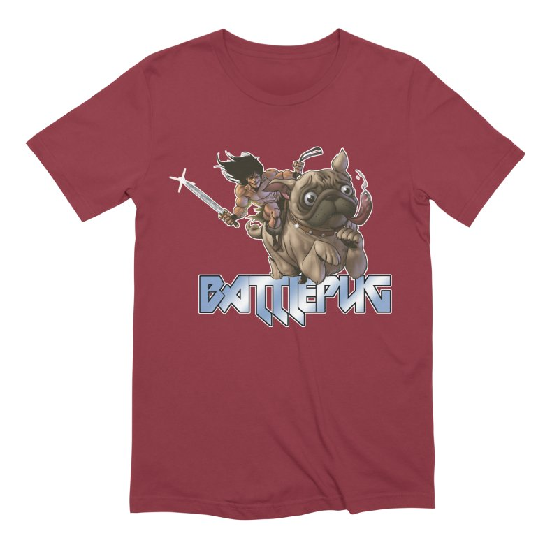 Battlepug Charge! Men's Extra Soft T-Shirt by THE BATTLEPUG STORE!