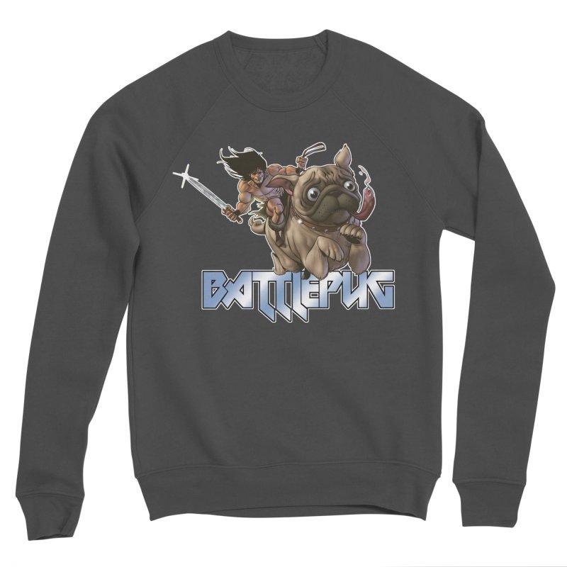 Battlepug Charge! Men's Sponge Fleece Sweatshirt by THE BATTLEPUG STORE!