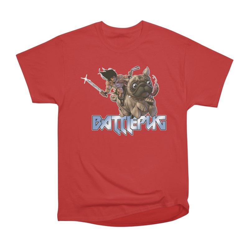 Battlepug Charge! Women's Heavyweight Unisex T-Shirt by THE BATTLEPUG STORE!