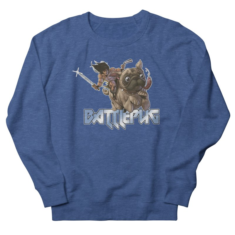 Battlepug Charge! Men's French Terry Sweatshirt by THE BATTLEPUG STORE!