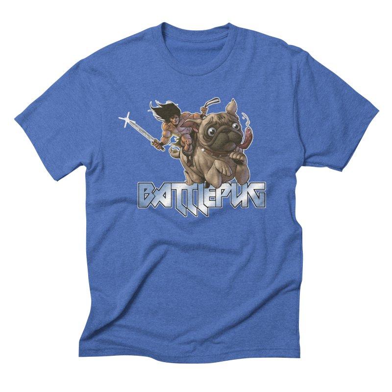 Battlepug Charge! Men's Triblend T-Shirt by THE BATTLEPUG STORE!