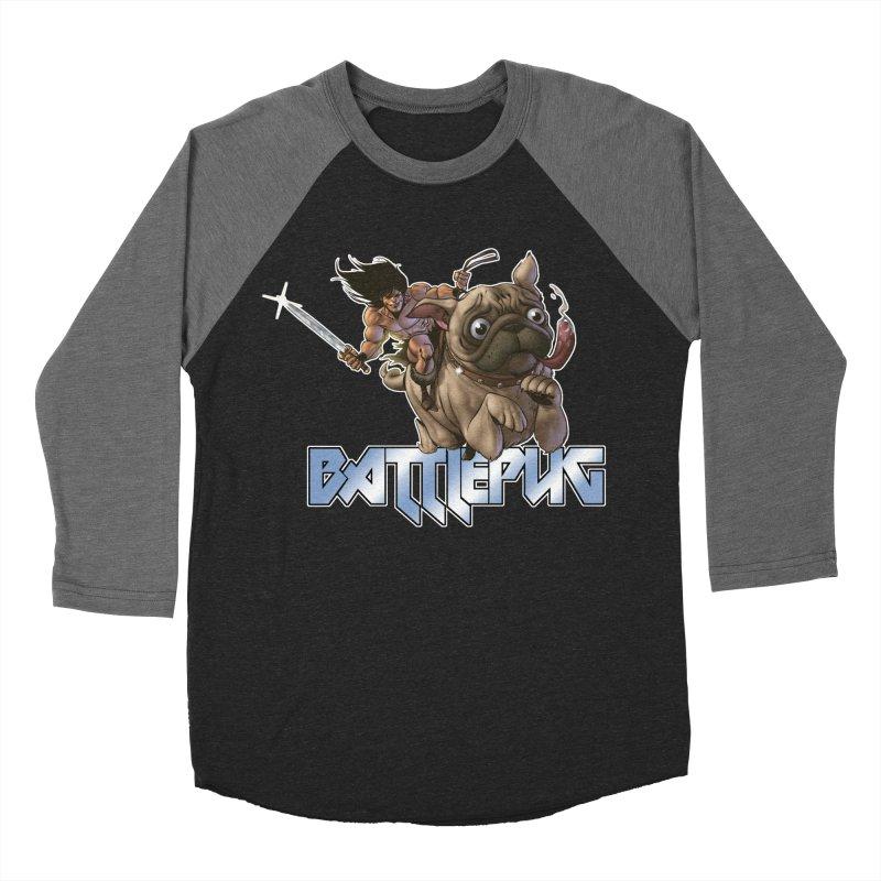 Battlepug Charge! Men's Baseball Triblend Longsleeve T-Shirt by THE BATTLEPUG STORE!