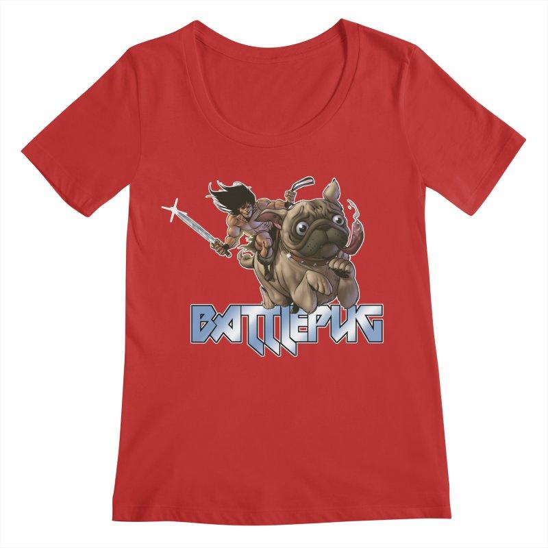 Battlepug Charge! Women's Regular Scoop Neck by THE BATTLEPUG STORE!