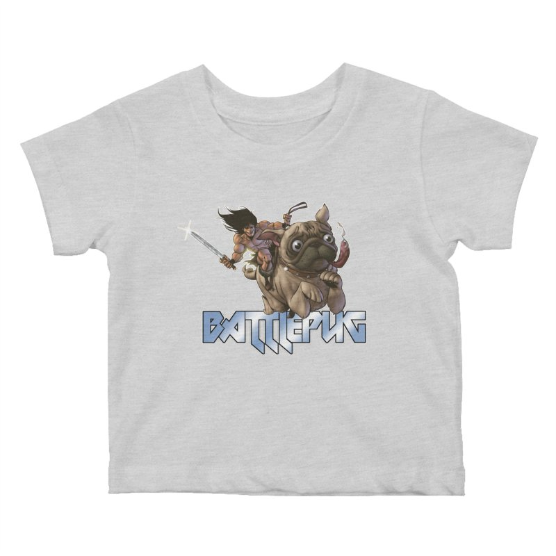 Battlepug Charge! Kids Baby T-Shirt by THE BATTLEPUG STORE!