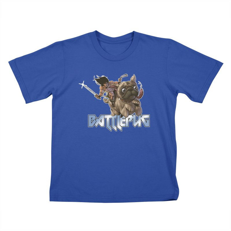 Battlepug Charge! Kids T-Shirt by THE BATTLEPUG STORE!