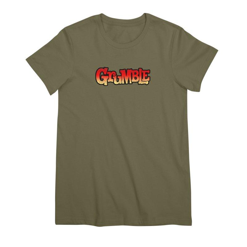 Grumble Comic Logo Women's Premium T-Shirt by THE BATTLEPUG STORE!
