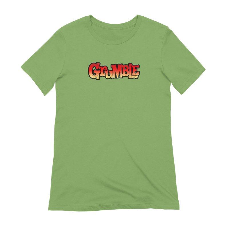 Grumble Comic Logo Women's Extra Soft T-Shirt by THE BATTLEPUG STORE!