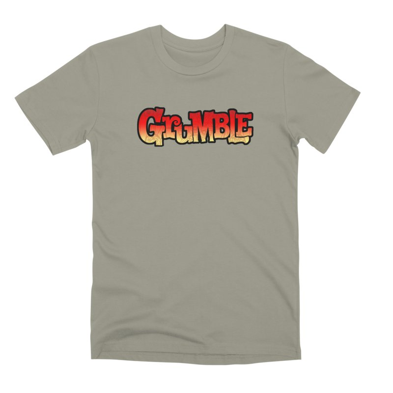 Grumble Comic Logo Men's Premium T-Shirt by THE BATTLEPUG STORE!