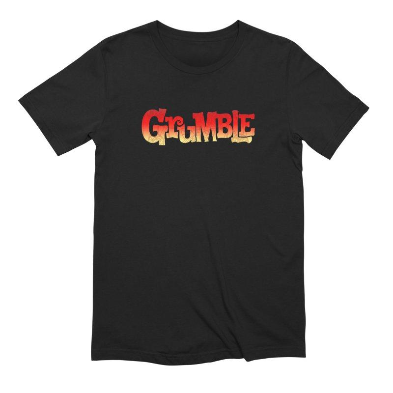 Grumble Comic Logo Men's Extra Soft T-Shirt by THE BATTLEPUG STORE!