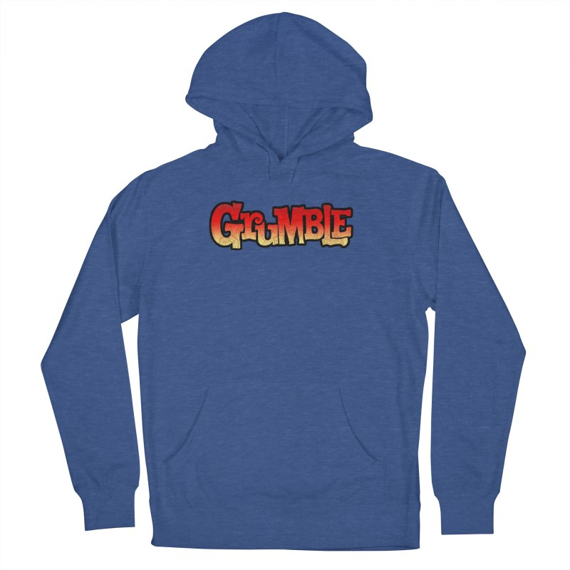 Grumble Comic Logo Men's French Terry Pullover Hoody by THE BATTLEPUG STORE!