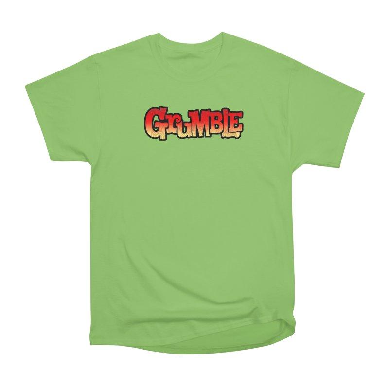 Grumble Comic Logo Women's Heavyweight Unisex T-Shirt by THE BATTLEPUG STORE!
