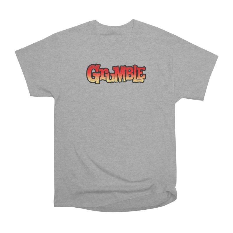 Grumble Comic Logo Men's Heavyweight T-Shirt by THE BATTLEPUG STORE!