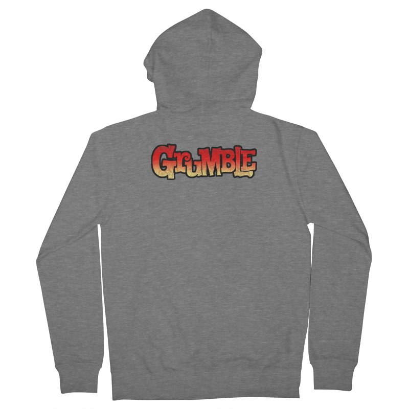 Grumble Comic Logo Women's French Terry Zip-Up Hoody by THE BATTLEPUG STORE!