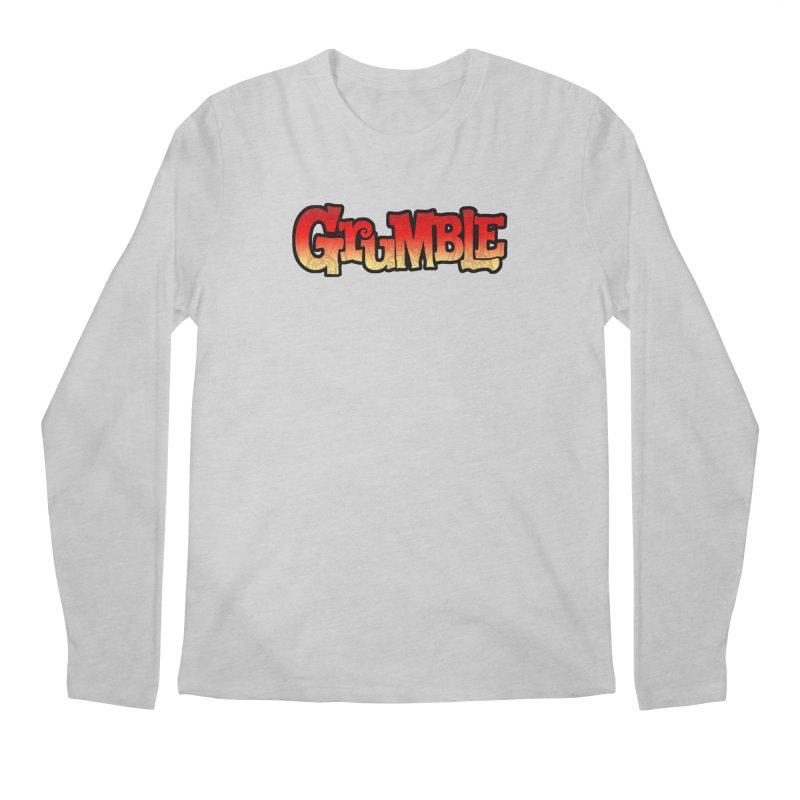 Grumble Comic Logo Men's Regular Longsleeve T-Shirt by THE BATTLEPUG STORE!