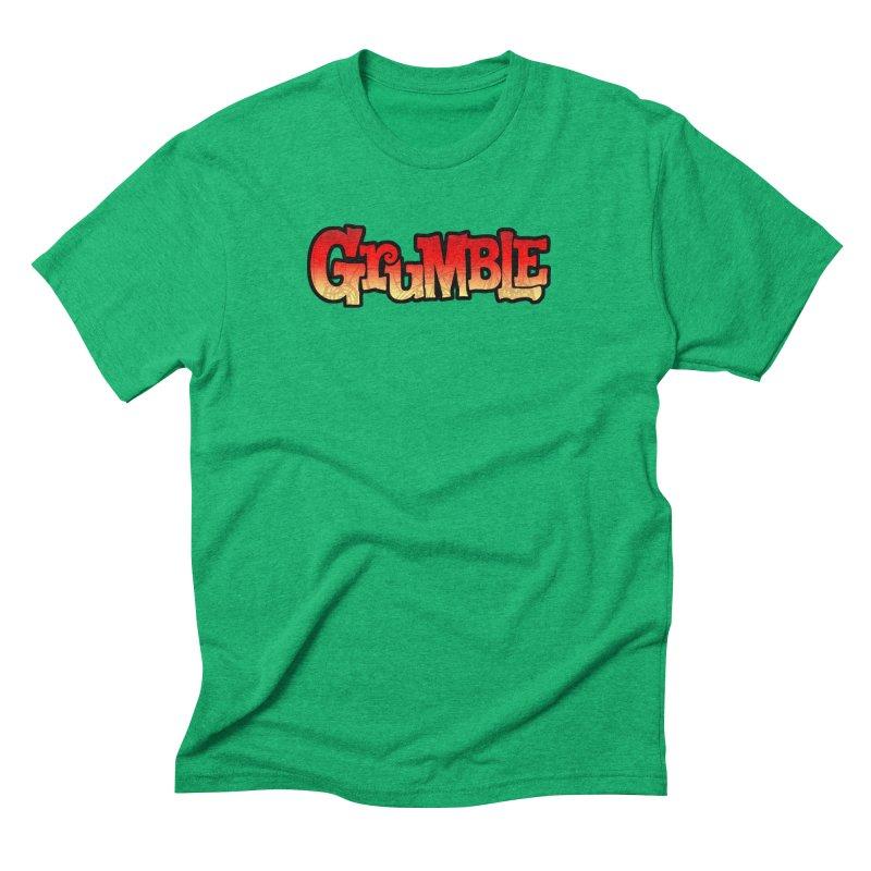 Grumble Comic Logo Men's Triblend T-Shirt by THE BATTLEPUG STORE!