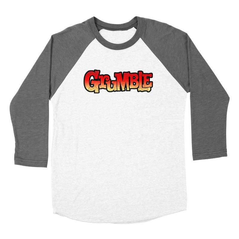 Grumble Comic Logo Women's Baseball Triblend Longsleeve T-Shirt by THE BATTLEPUG STORE!