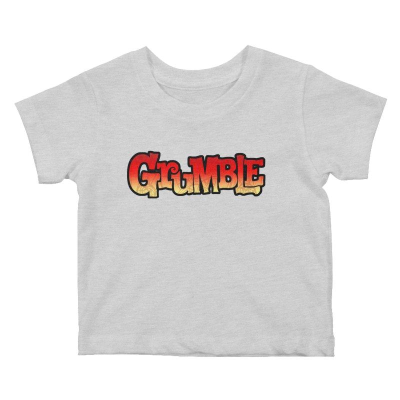 Grumble Comic Logo Kids Baby T-Shirt by THE BATTLEPUG STORE!