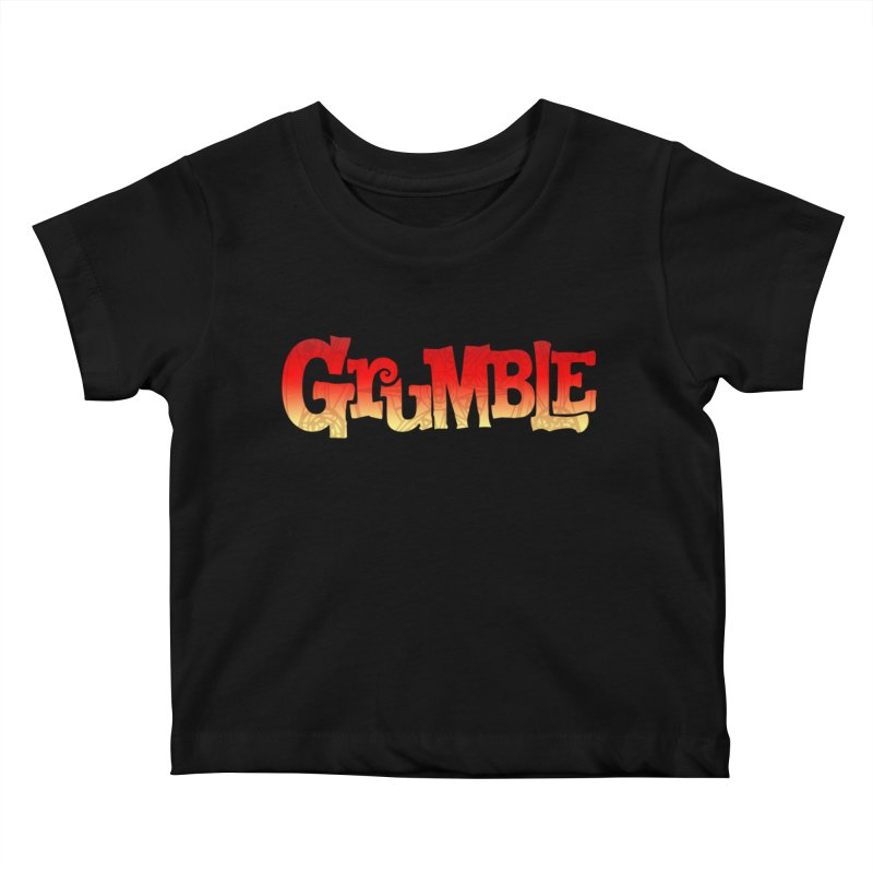 Grumble Comic Logo Kids Baby T-Shirt by THE BATTLEPUG STORE!