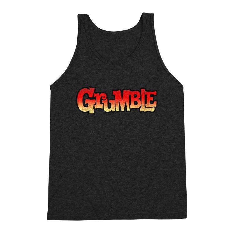 Grumble Comic Logo Men's Triblend Tank by THE BATTLEPUG STORE!