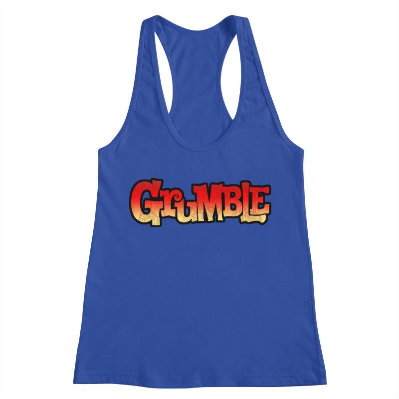 Grumble Comic Logo Women's Racerback Tank by THE BATTLEPUG STORE!