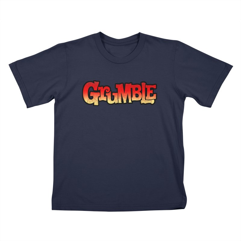 Grumble Comic Logo Kids T-Shirt by THE BATTLEPUG STORE!