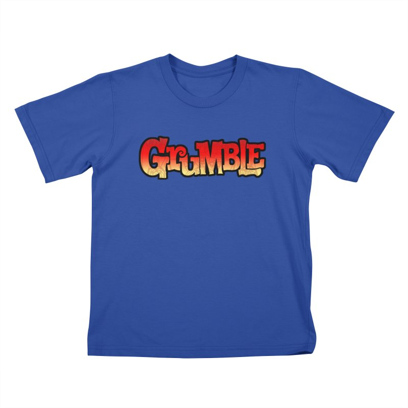 Grumble Comic Logo Kids T-Shirt by THE BATTLEPUG STORE!