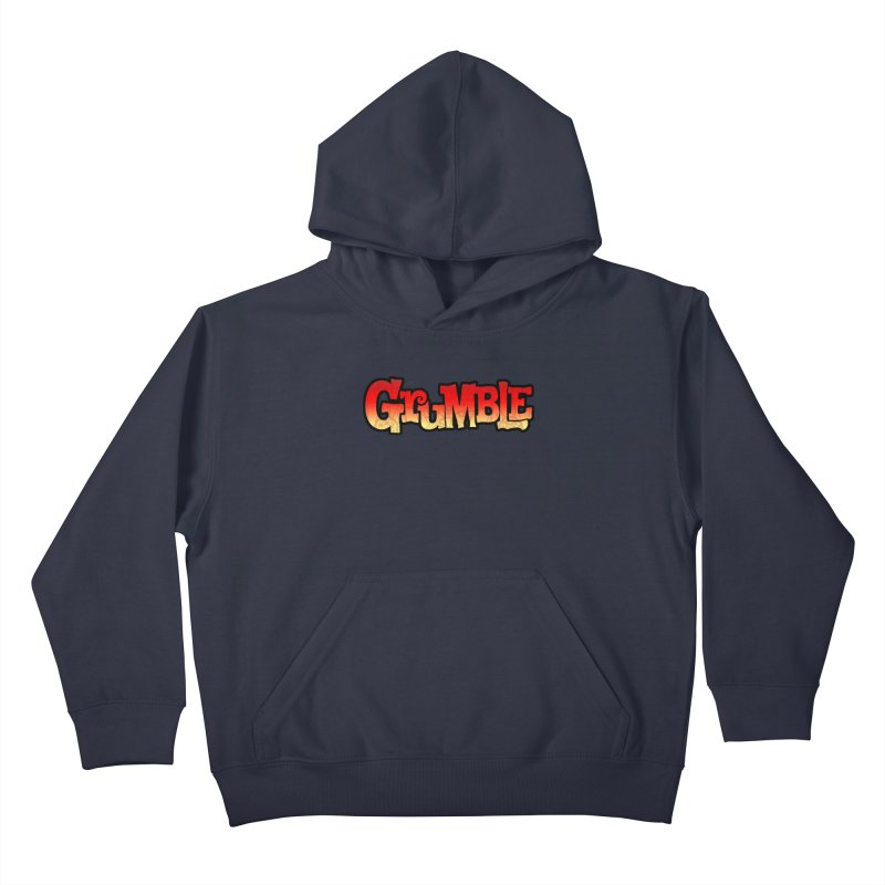Grumble Comic Logo Kids Pullover Hoody by THE BATTLEPUG STORE!