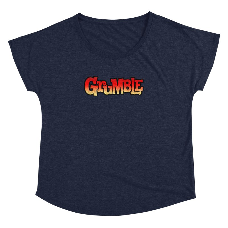 Grumble Comic Logo Women's Dolman Scoop Neck by THE BATTLEPUG STORE!