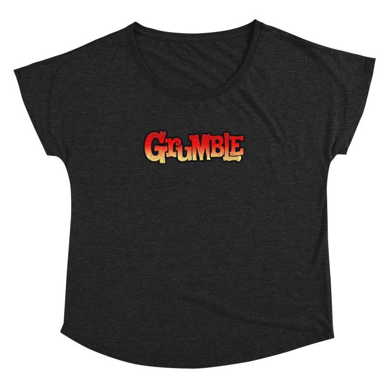 Grumble Comic Logo Women's Dolman Scoop Neck by THE BATTLEPUG STORE!
