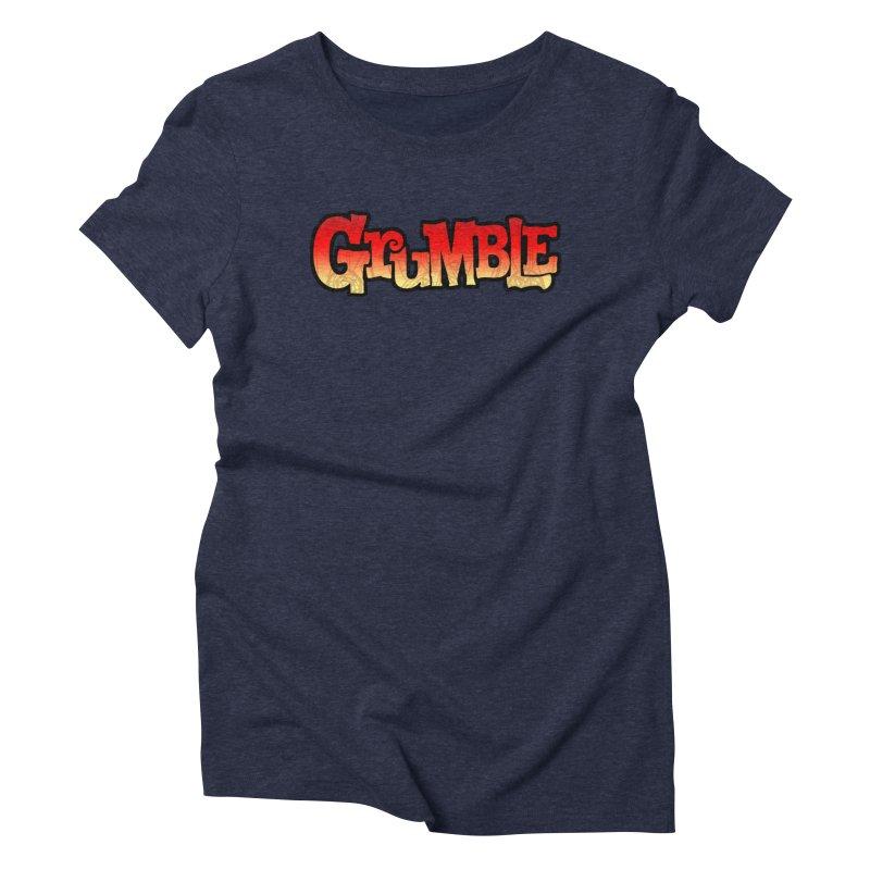 Grumble Comic Logo Women's Triblend T-Shirt by THE BATTLEPUG STORE!