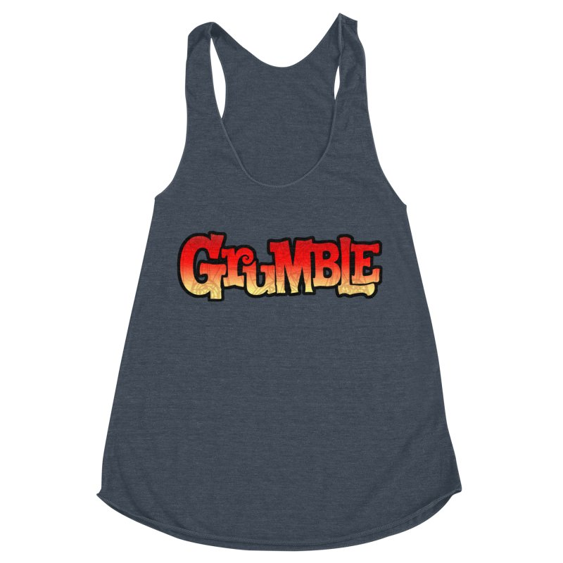 Grumble Comic Logo Women's Racerback Triblend Tank by THE BATTLEPUG STORE!