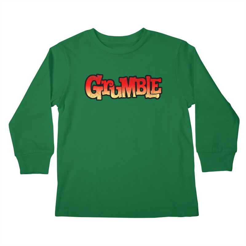 Grumble Comic Logo Kids Longsleeve T-Shirt by THE BATTLEPUG STORE!