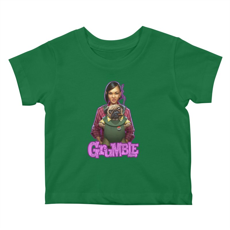 Grumble - Tala & Eddie Kids Baby T-Shirt by THE BATTLEPUG STORE!