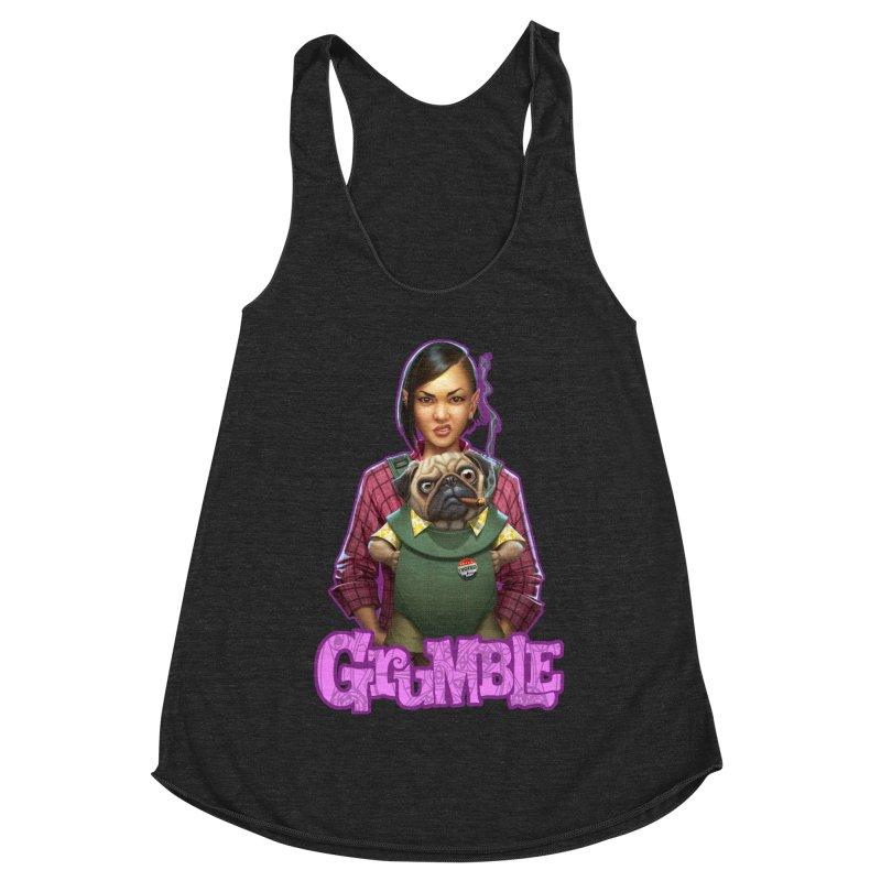 Grumble - Tala & Eddie Women's Racerback Triblend Tank by THE BATTLEPUG STORE!