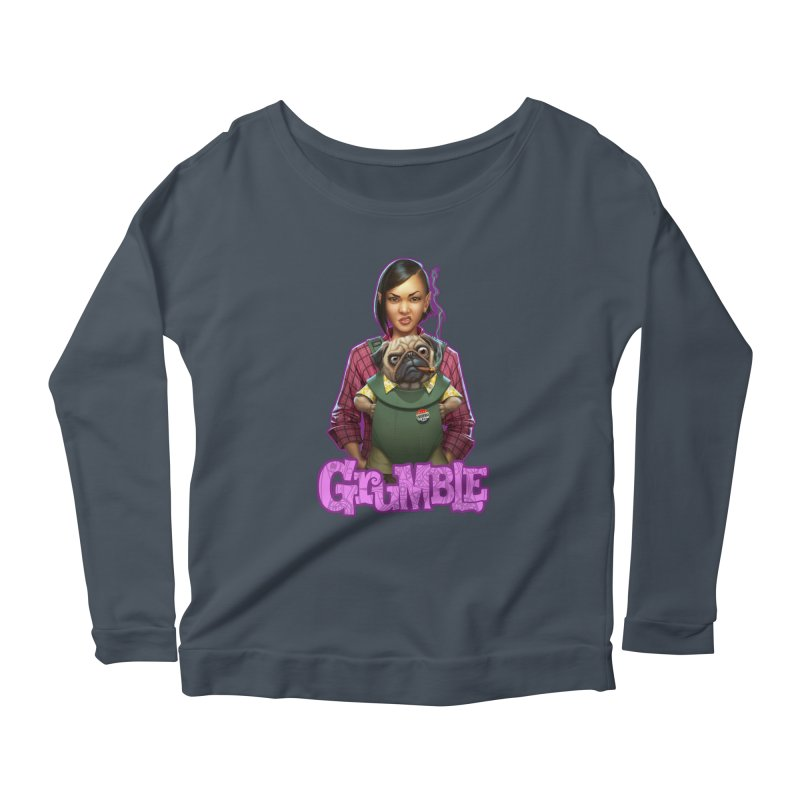 Grumble - Tala & Eddie Women's Scoop Neck Longsleeve T-Shirt by THE BATTLEPUG STORE!
