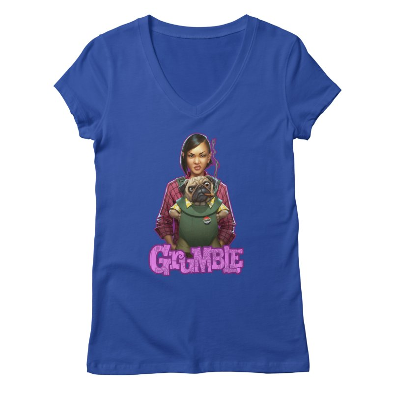 Grumble - Tala & Eddie Women's Regular V-Neck by THE BATTLEPUG STORE!