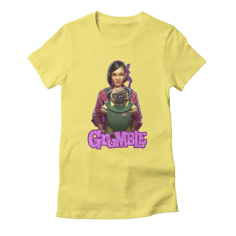Grumble - Tala & Eddie Women's Fitted T-Shirt by THE BATTLEPUG STORE!