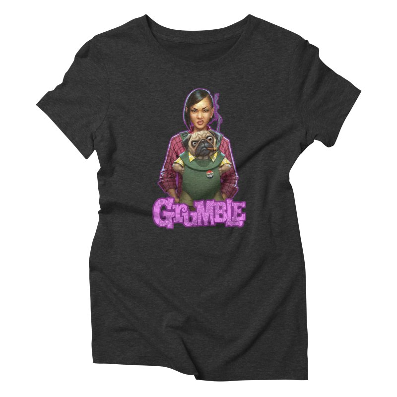 Grumble - Tala & Eddie Women's Triblend T-Shirt by THE BATTLEPUG STORE!