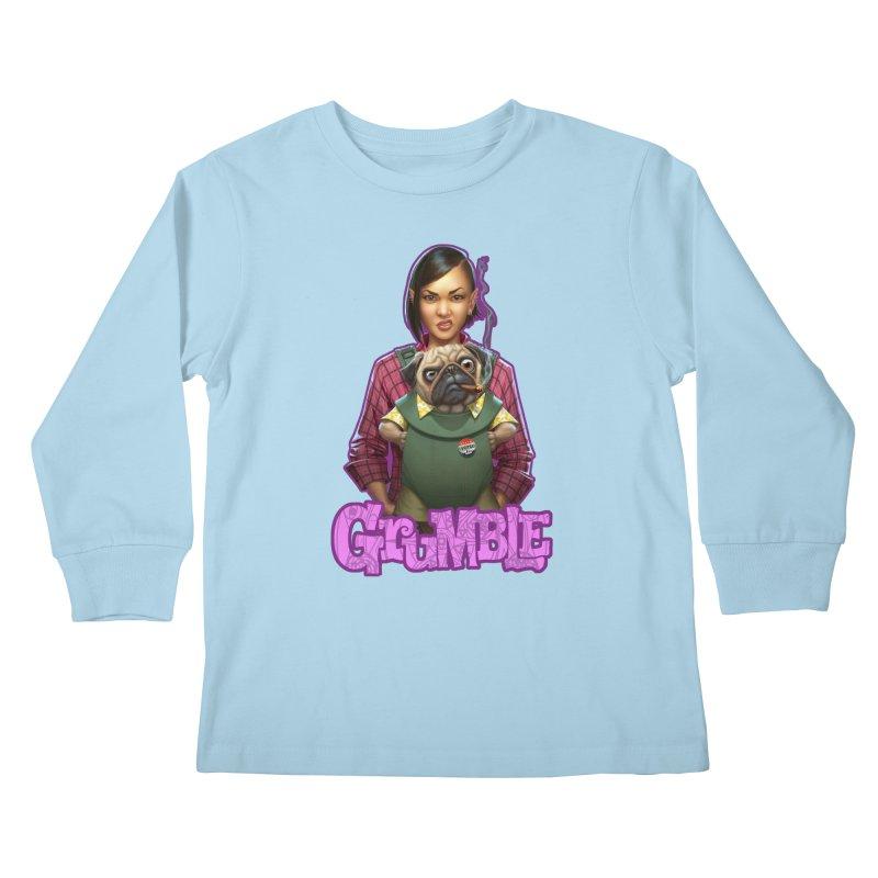 Grumble - Tala & Eddie Kids Longsleeve T-Shirt by THE BATTLEPUG STORE!