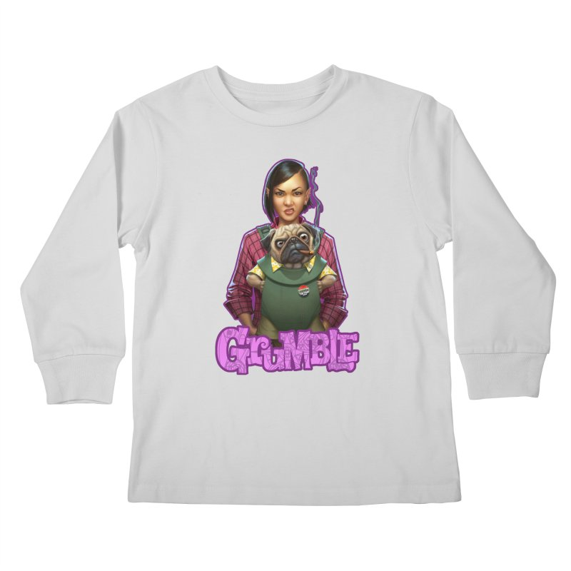 Grumble - Tala & Eddie Kids Longsleeve T-Shirt by THE BATTLEPUG STORE!