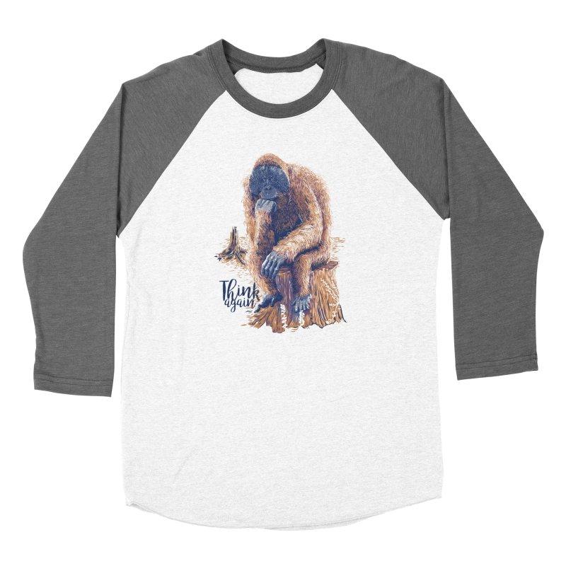 Think Again Women's Baseball Triblend Longsleeve T-Shirt by Artist Shop