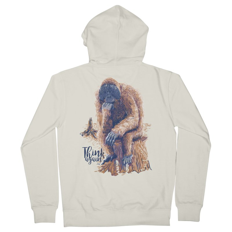 Think Again Women's French Terry Zip-Up Hoody by Artist Shop